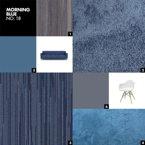 MORNING BLUE NO.18 - Color mood palet